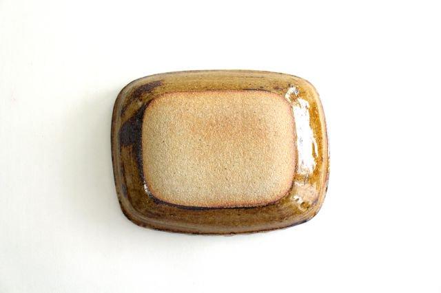 長角皿 フェザーコーム クリーム 陶器 紀窯 画像3