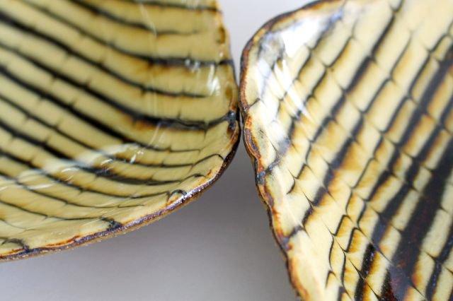 長角皿 フェザーコーム クリーム 陶器 紀窯 画像5