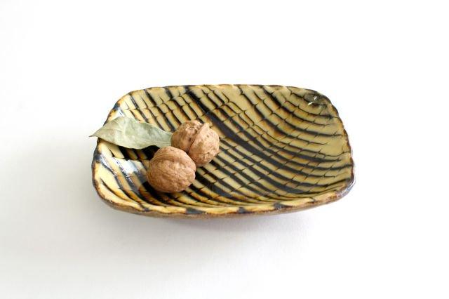 長角皿 フェザーコーム クリーム 陶器 紀窯 画像6
