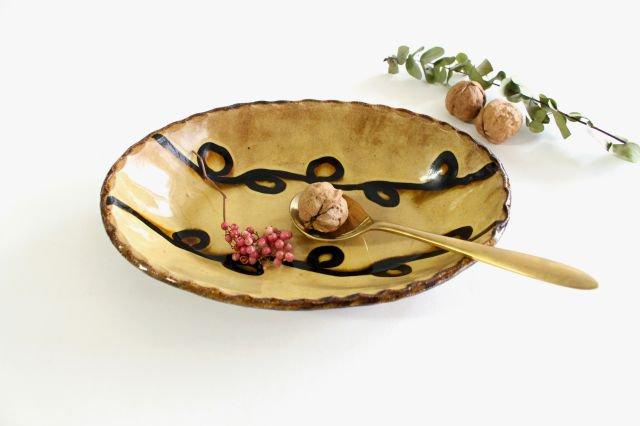 楕円鉢 輪二本 クリーム 陶器 紀窯 画像4