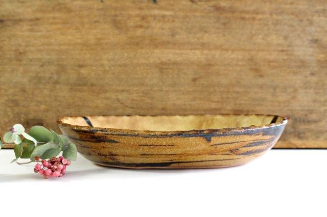 楕円鉢 輪二本 クリーム 陶器 紀窯 画像5