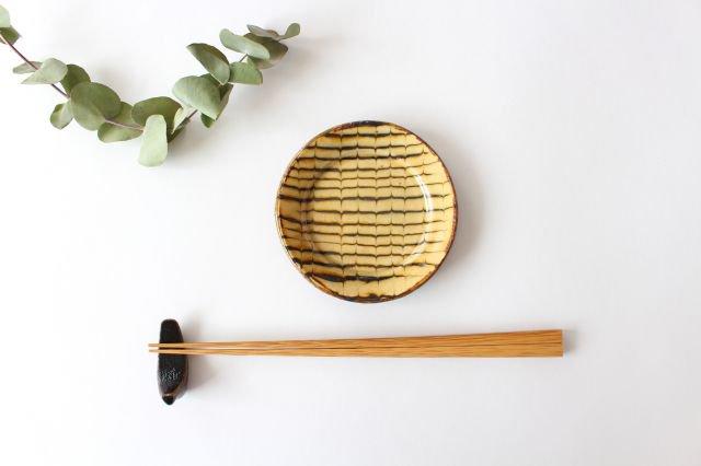 リム丸皿 豆 フェザーコーム クリーム 【A】 陶器 紀窯