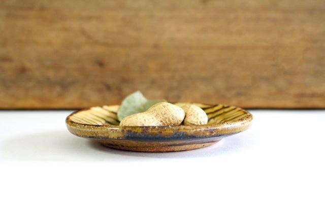 リム丸皿 豆 フェザーコーム クリーム 【A】 陶器 紀窯 画像2