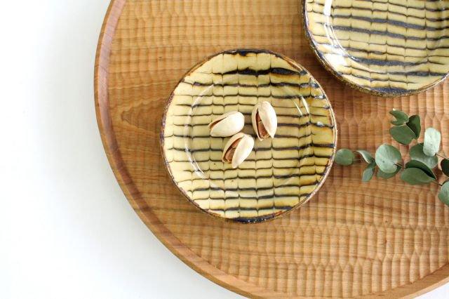 リム丸皿 豆 フェザーコーム クリーム 【A】 陶器 紀窯 画像4