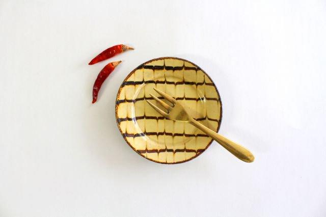 リム丸皿 豆 フェザーコーム クリーム 【B】 陶器 紀窯 画像6