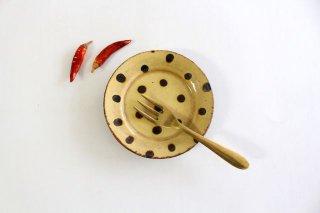 リム丸皿 豆 ドット クリーム 陶器 紀窯商品画像