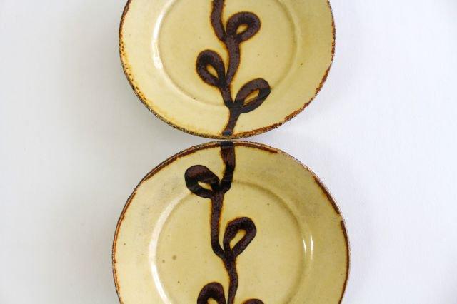 リム丸皿 豆 輪 クリーム 陶器 紀窯 画像2