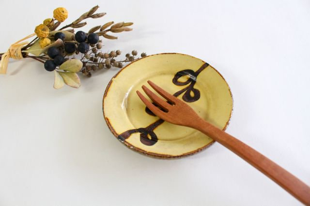 リム丸皿 豆 輪 クリーム 陶器 紀窯 画像4