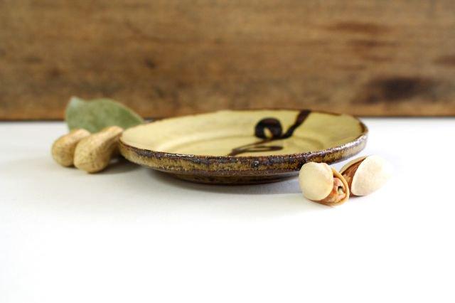 リム丸皿 豆 輪 クリーム 陶器 紀窯 画像5