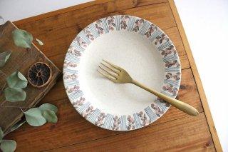 フラワー&ライン リム7寸皿 陶器 樋口早苗商品画像