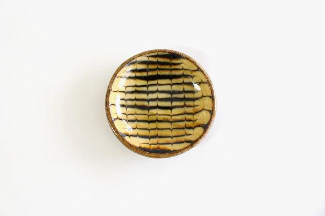 丸皿 豆 フェザーコーム クリーム 【A】 陶器 紀窯 画像2