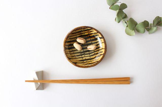 丸皿 豆 フェザーコーム クリーム 【A】 陶器 紀窯 画像4