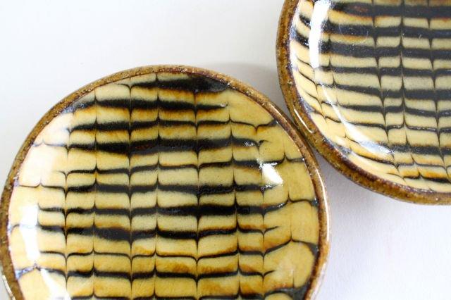 丸皿 豆 フェザーコーム クリーム 【A】 陶器 紀窯 画像6