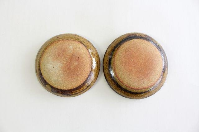 丸皿 豆 フェザーコーム クリーム 【B】 陶器 紀窯 画像3