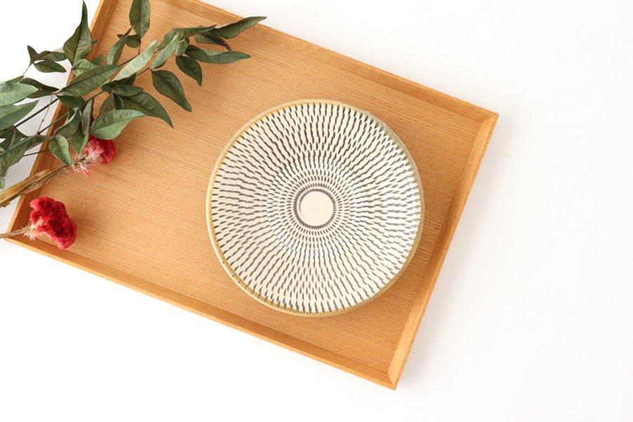 5寸皿 トビカンナ 【A】 陶器 小鹿田焼