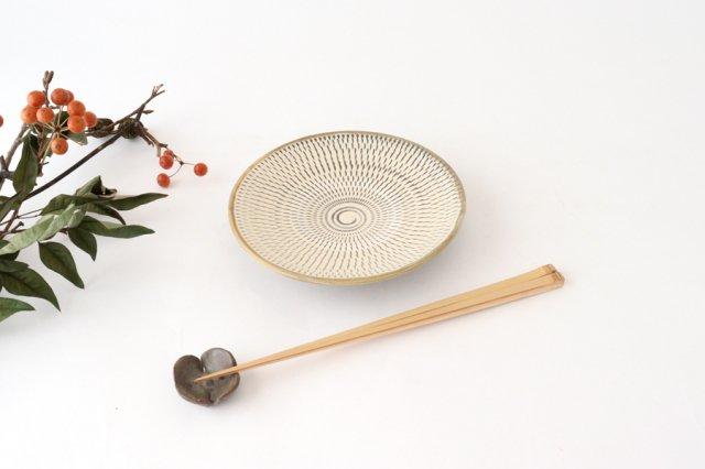 5寸皿 トビカンナ 【A】 陶器 小鹿田焼  画像5