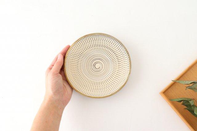 5寸皿 トビカンナ 【A】 陶器 小鹿田焼  画像6