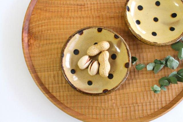 丸皿 豆 ドット クリーム 陶器 紀窯 画像2