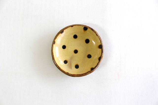 丸皿 豆 ドット クリーム 陶器 紀窯 画像4
