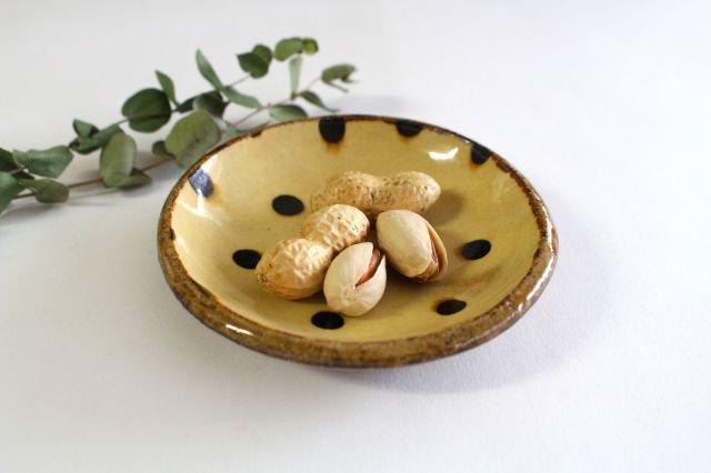 丸皿 豆 ドット クリーム 陶器 紀窯 画像6