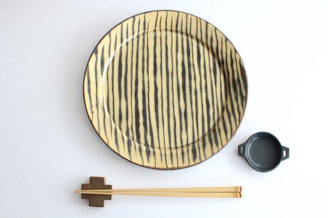 リム丸皿 大 ボアーズヘッド クリーム 陶器 紀窯 画像3