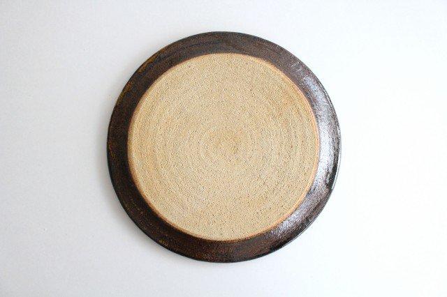 リム丸皿 大 ボアーズヘッド クリーム 陶器 紀窯 画像6
