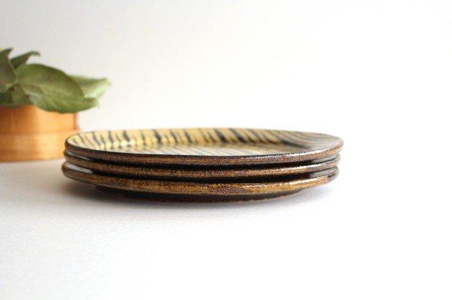 リム丸皿 大 フェザーコーム クリーム 【A】 陶器 紀窯 画像2