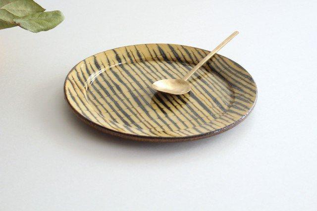 リム丸皿 大 フェザーコーム クリーム 【A】 陶器 紀窯 画像5
