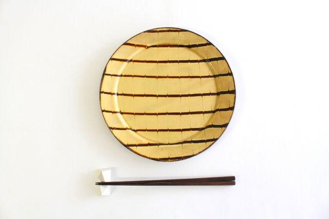 リム丸皿 大 フェザーコーム クリーム 【B】 陶器 紀窯 画像6