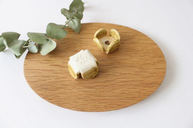 花の箸置きA 黄 陶器 harasawa ayaka 画像3