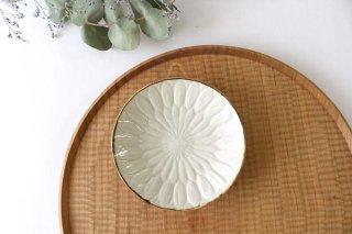 菊花彫 3.5寸皿 陶器 村田亜希 益子焼商品画像