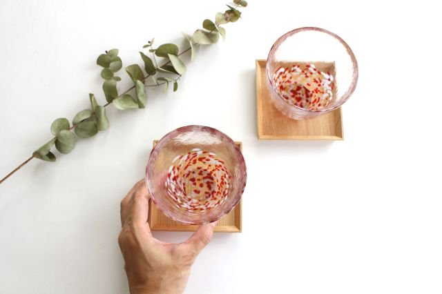 赤りんごカップ ガラス 津軽びいどろ 画像4