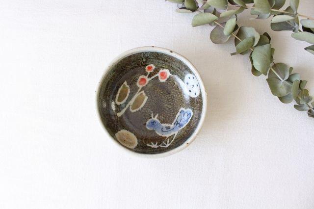 たたら作り小鉢 青い鳥 半磁器 森陶房 砥部焼