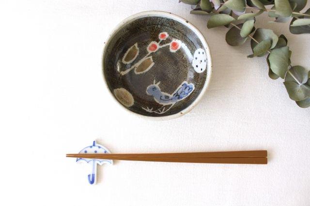 たたら作り小鉢 青い鳥 半磁器 森陶房 砥部焼 画像2