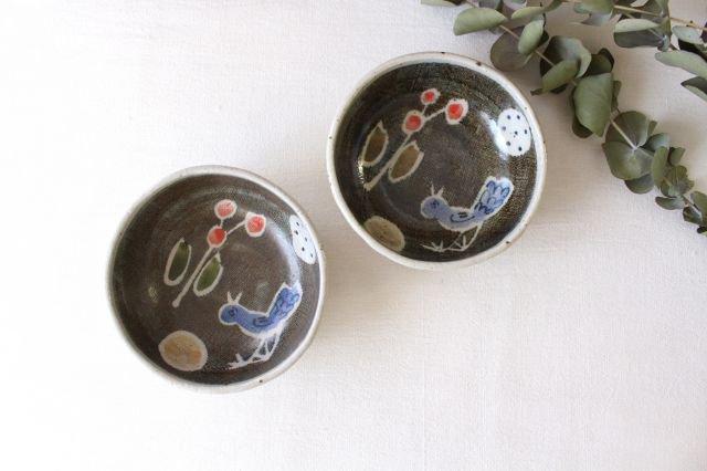 たたら作り小鉢 青い鳥 半磁器 森陶房 砥部焼 画像6