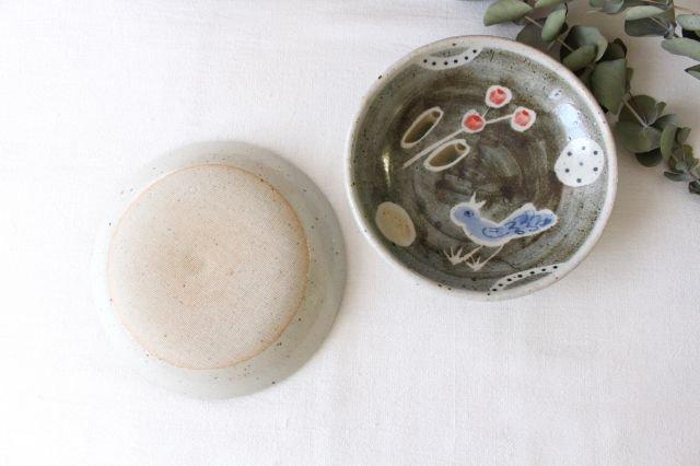 銘々皿 大 青い鳥 半磁器 森陶房 砥部焼 画像3