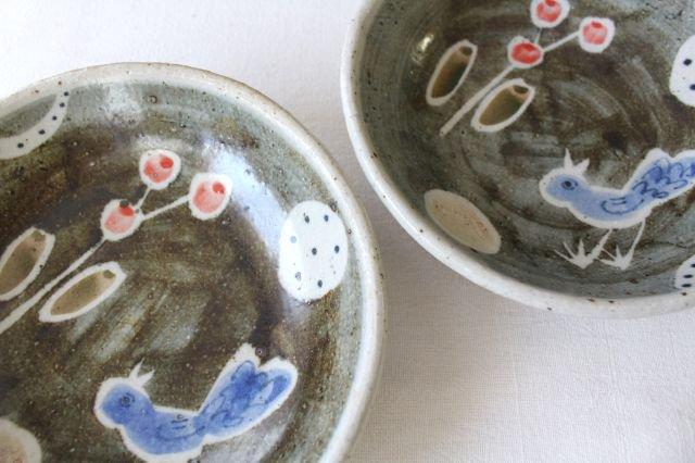 銘々皿 大 青い鳥 半磁器 森陶房 砥部焼 画像5