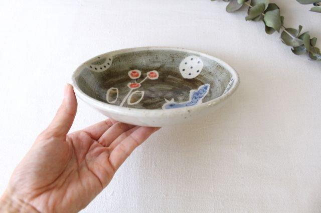 銘々皿 大 青い鳥 半磁器 森陶房 砥部焼 画像6
