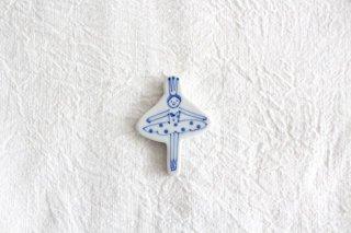 箸置き バレリーナ 水玉 磁器 森陶房 砥部焼商品画像