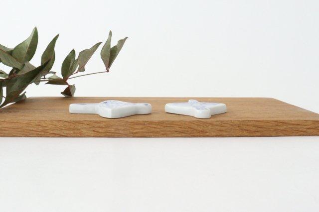 箸置き バレリーナ フリル 磁器 森陶房 砥部焼 画像2