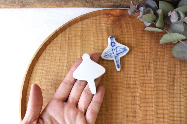 箸置き バレリーナ フリル 磁器 森陶房 砥部焼 画像5