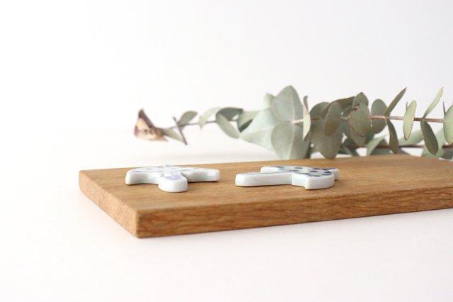 箸置き 傘 水玉 磁器 森陶房 砥部焼 画像6