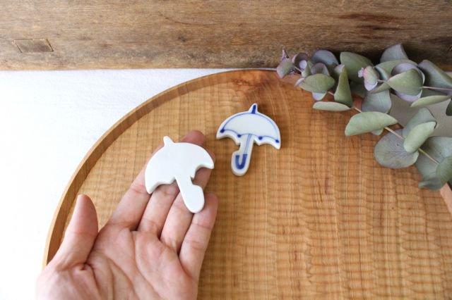 箸置き 傘 ポンポン 磁器 森陶房 砥部焼 画像2