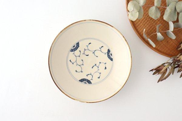 三菊唐草紋 6寸皿 陶器 村田亜希 益子焼商品画像