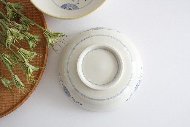 三菊唐草紋 5寸鉢 陶器 村田亜希 益子焼 画像3