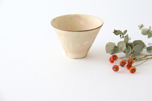 粉福フリーカップ 反り 陶器 木のね
