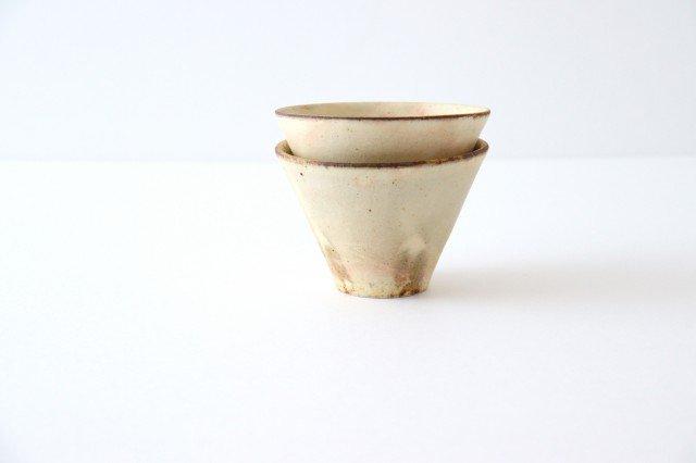 粉福フリーカップ 反り 陶器 木のね 画像3