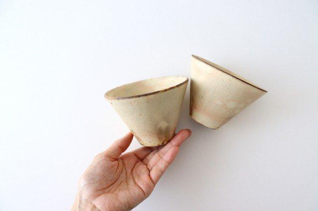 粉福フリーカップ 反り 陶器 木のね 画像5