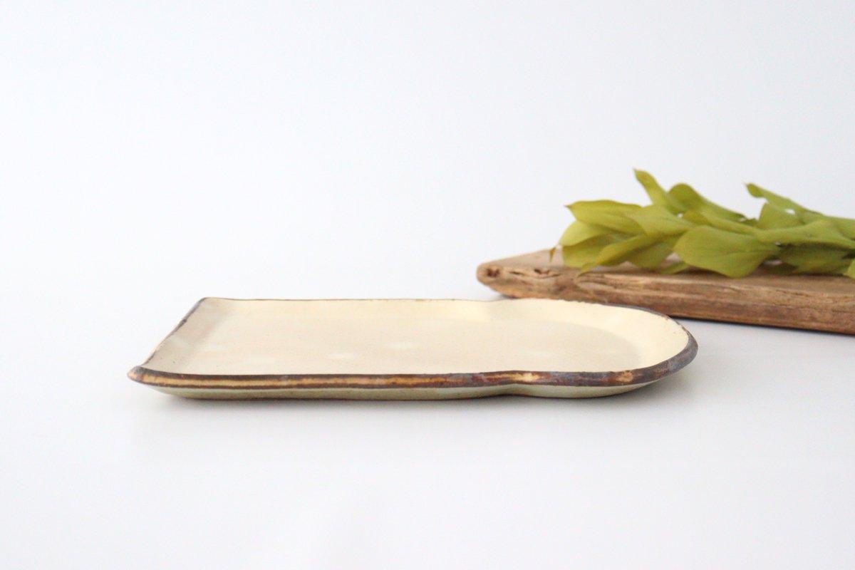 粉福食パン皿 L 陶器 木のね 画像2