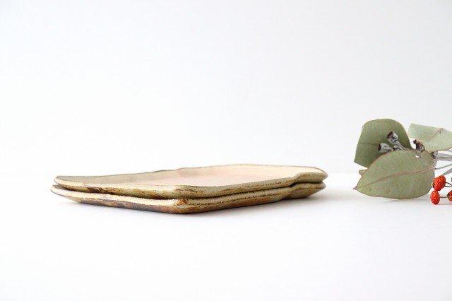 粉福食パン皿 L 陶器 木のね 画像6